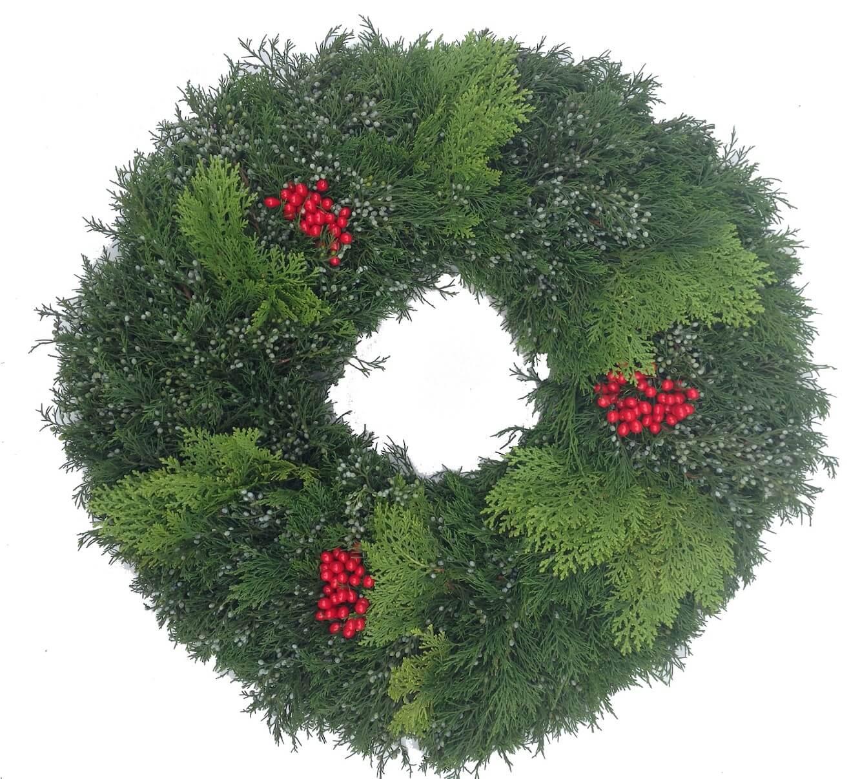 Blueberry Cedar Arbavida Hollyberry Christmas Wreath
